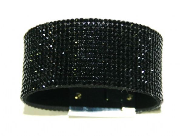 Diamante crystal bling cuff bracelet kit - Black -- c4009016kit
